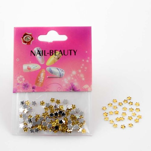 Strass-Blumen in Gold 804-002