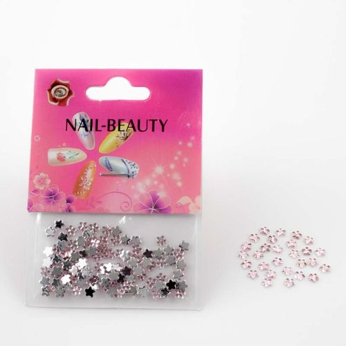 Strass-Blumen in Rosa 804-005