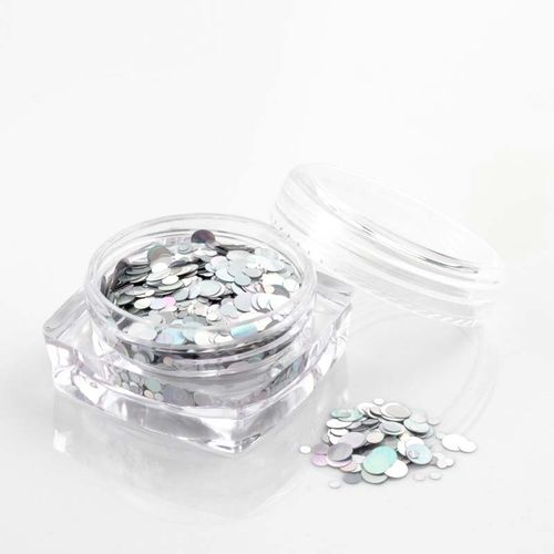 Glitter Pailletten in Silber Metallic 1202-201