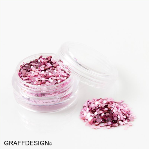 Glitter Pailletten in Pur Flieder - 1 mm - 1201-102