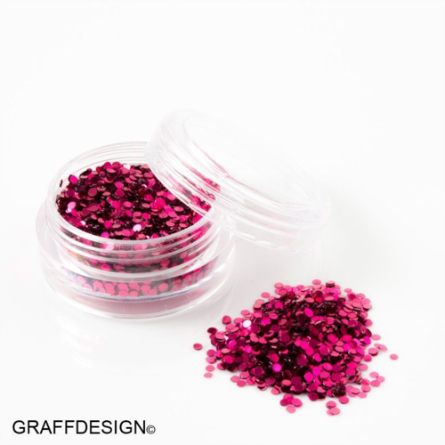Glitter Pailletten in Pur Pink - 1 mm - 1201-103