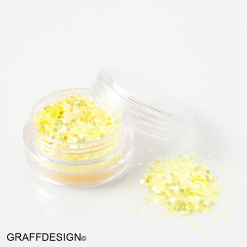 Glitter Pailletten in irisierend Gelb - 1 mm - 1201-302