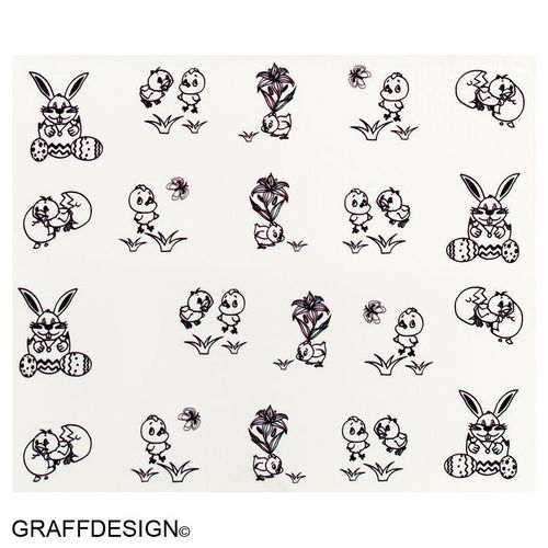 Sticker / Wassersticker / Tattoo / One Stroke / Ostern - 702-SY-826