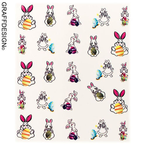 Sticker / Wassersticker / Tattoo / One Stroke / Ostern - 702-SY-827