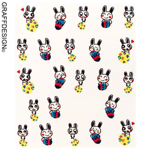 Sticker / Wassersticker / Tattoo / One Stroke / Ostern - 702-SY-830