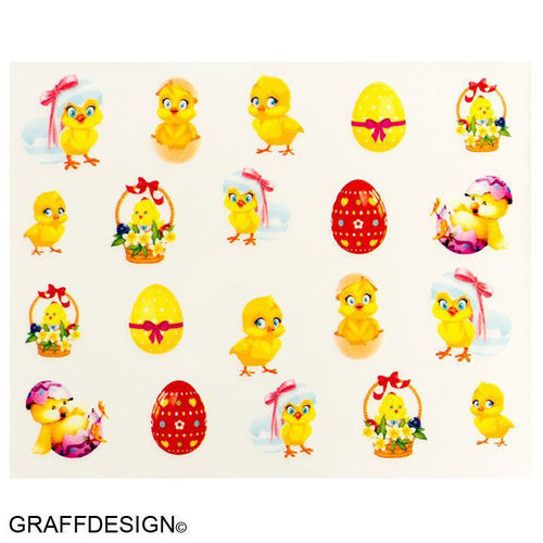 Sticker / Wassersticker / Tattoo / One Stroke / Ostern - 702-BN-548