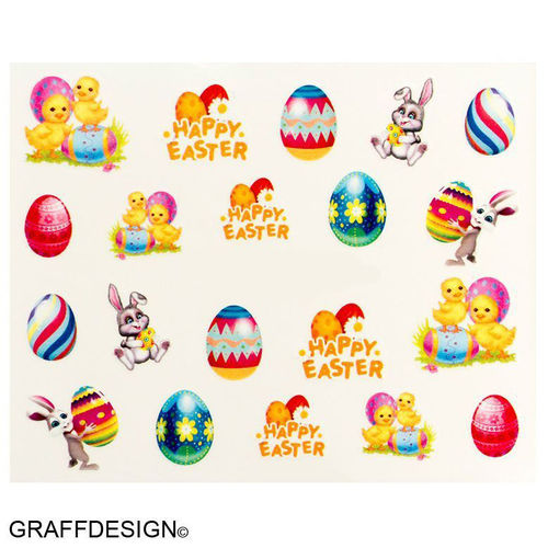 Sticker / Wassersticker / Tattoo / One Stroke / Ostern - 702-BN-551