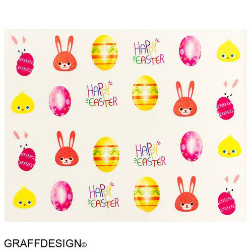 Sticker / Wassersticker / Tattoo / One Stroke / Ostern - 702-BN-552