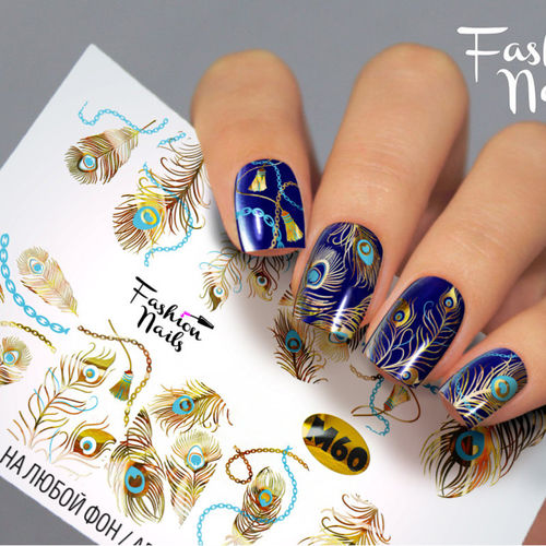 Nail Wraps - Tattoo - Sticker - im Metallic Design - 702-M-M60
