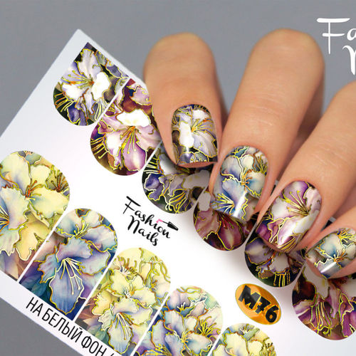 Nail Wraps - Tattoo - Sticker - im Metallic Design - 702-M-M76