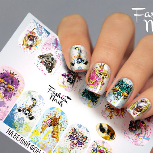 Nail Wraps - Tattoo - Sticker - im Metallic Design - 702-M-M71