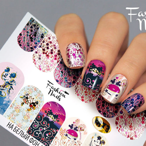 Nail Wraps - Tattoo - Sticker - im Metallic Design - 702-M-M73