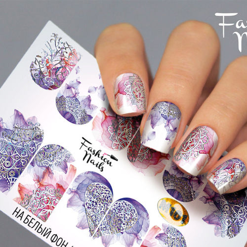 Nail Wraps - Tattoo - Sticker - im Metallic Design - 702-M-M101