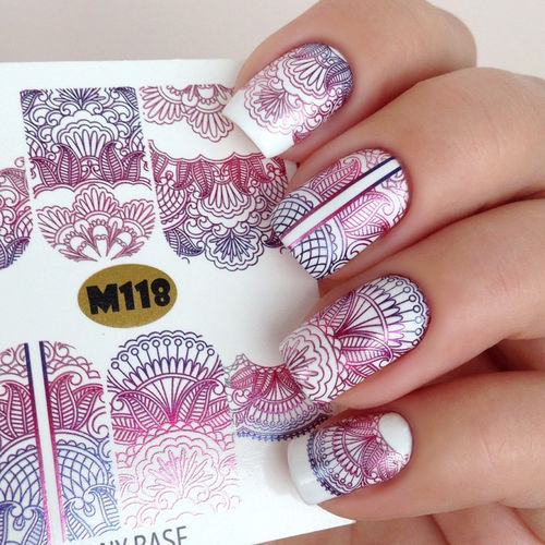 Nail Wraps - Tattoo - Sticker - im Metallic Design - 702-M-M118