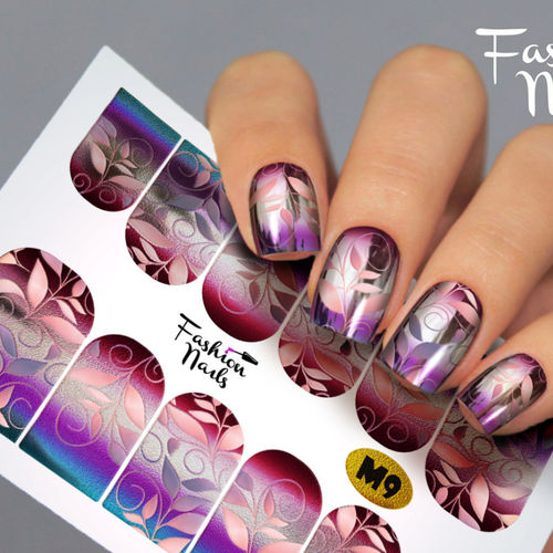 Nail Wraps - Tattoo - Sticker - im Metallic Design - 702-M-M9