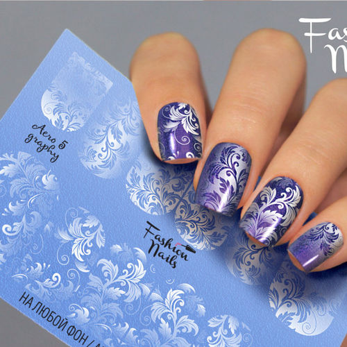 Nail Wraps - Tattoo - Sticker - im Airbrush Design - 702-A-Air5