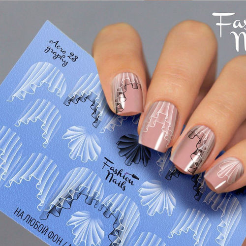 Nail Wraps - Tattoo - Sticker - im Airbrush Design - 702-A-Air23