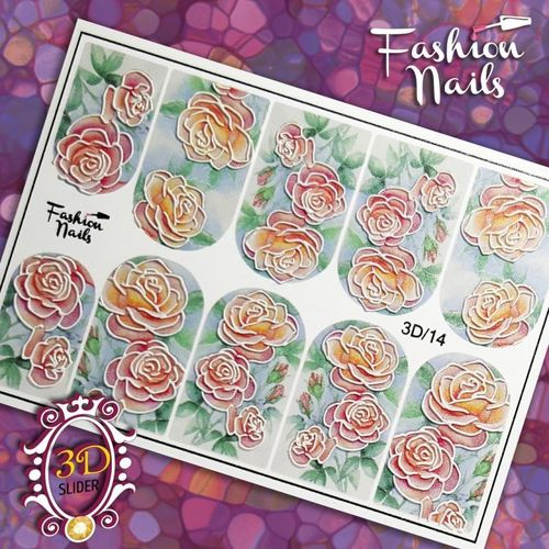 Nail Wraps - Tattoo - Sticker - im 3D Design - 702-3D-14
