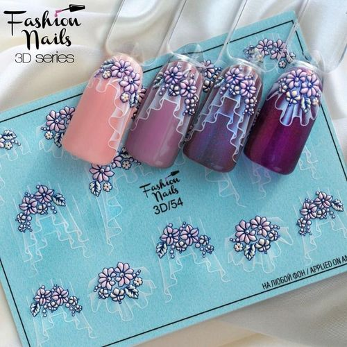 Nail Wraps - Tattoo - Sticker - im 3D Design - 702-3D-54