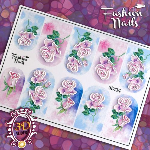 Nail Wraps - Tattoo - Sticker - im 3D Design - 702-3D-34
