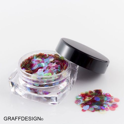 1x Glitter-Glitzer-Pailletten-Mix - Mermaid Pailletten - irisierend - bis 2,5 mm - 2300-034