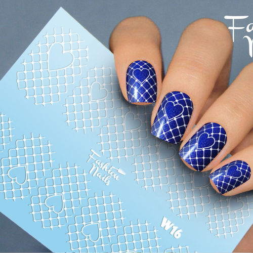 Nail Wraps - Tattoo - Sticker - im Weiss Design - 702-W-W16
