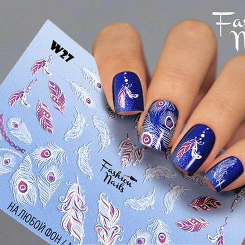 Nail Wraps - Tattoo - Sticker - im Weiss Design - 702-W-W27
