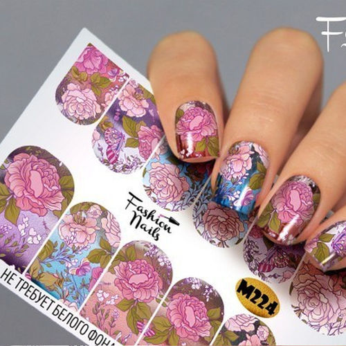 Nail Wraps - Tattoo - Sticker - im Metallic Design - 702-M-M224