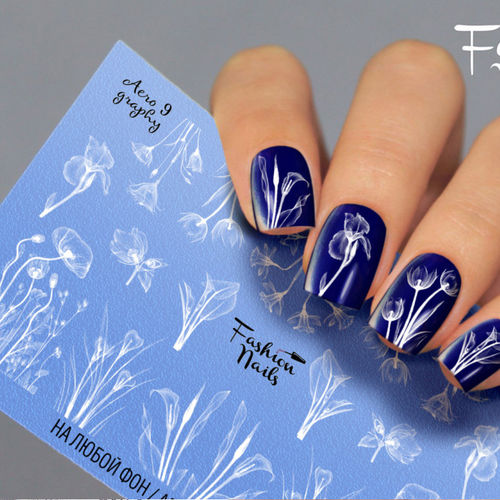 Nail Wraps - Tattoo - Sticker - im Airbrush Design - 702-A-Air9