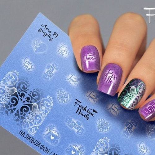Nail Wraps - Tattoo - Sticker - im Airbrush Design - 702-A-Air21
