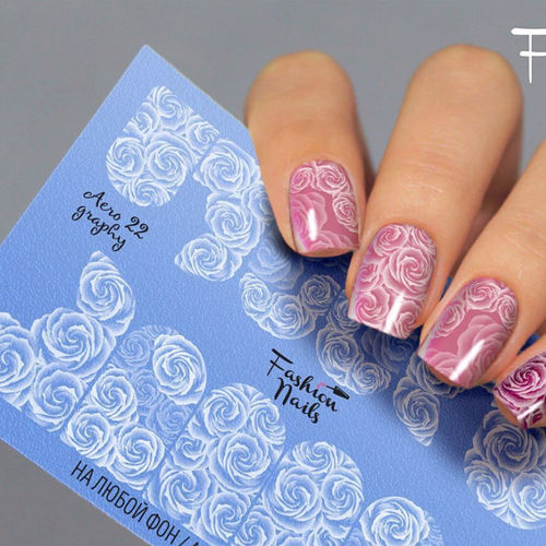 Nail Wraps - Tattoo - Sticker - im Airbrush Design - 702-A-Air22