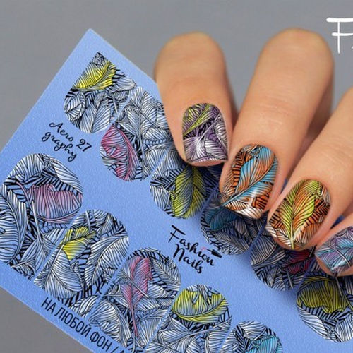 Nail Wraps - Tattoo - Sticker - im Airbrush Design - 702-A-Air27
