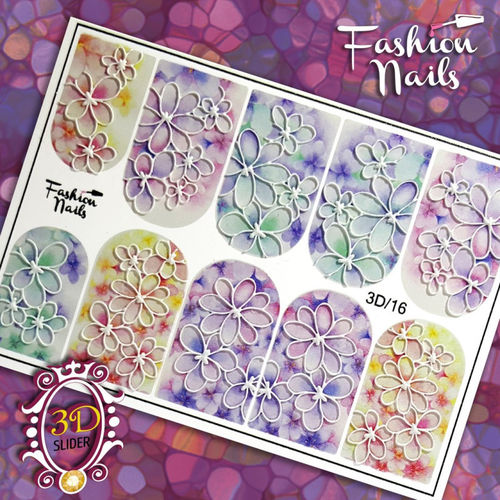 Nail Wraps - Tattoo - Sticker - im 3D Design - 702-3D-16