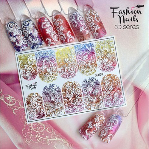 Nail Wraps - Tattoo - Sticker - im 3D Design - 702-3D-37