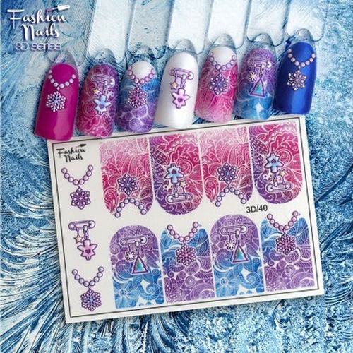 Nail Wraps - Tattoo - Sticker - im 3D Design - 702-3D-40