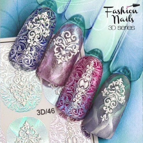 Nail Wraps - Tattoo - Sticker - im 3D Design - 702-3D-46