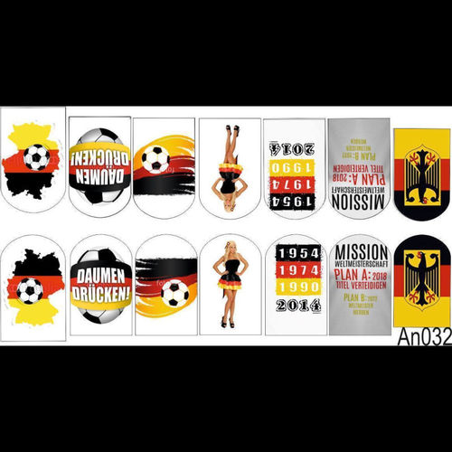 Wraps - Sticker - Tattoos - Fussball - 702-An032