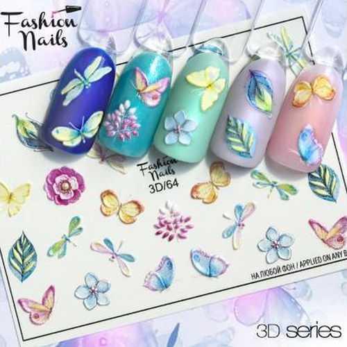 Nail Wraps - Tattoo - Sticker - im 3D Design - 702-3D-64