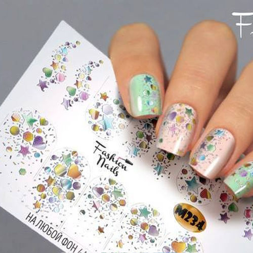 Nail Wraps - Tattoo - Sticker - im Metallic Design - 702-M-M234