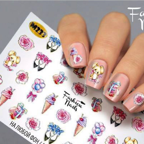 Nail Wraps - Tattoo - Sticker - im Metallic Design - 702-M-M233