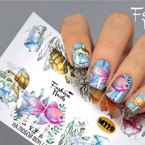 Nail Wraps - Tattoo - Sticker - im Metallic Design - 702-M-M228