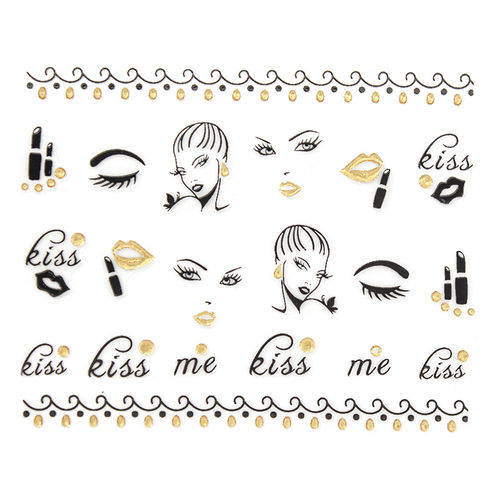Glitter Glitzer Sticker - 703-JH008 Gold