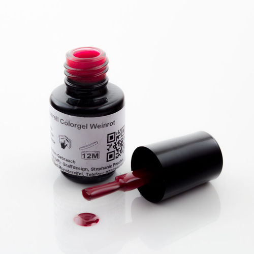 4,5 ml UV Aquarellfarbe - Weinrot - 107-A21