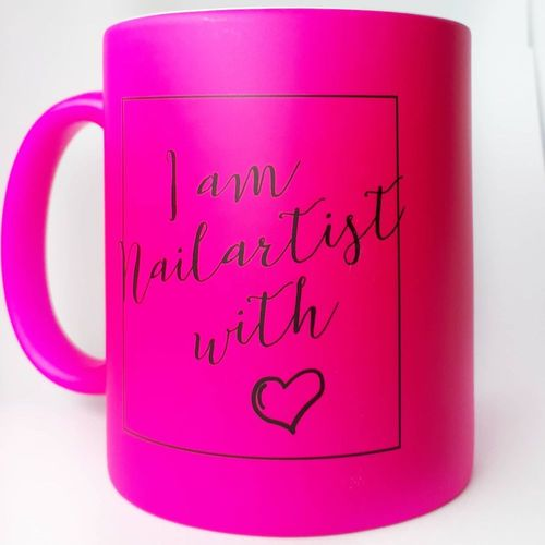 Tasse - in Neon Pink - Nailartist - 330 ml - 209-007